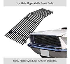 APS Compatible with 1967-1968 Ford Mustang Main Upper Stainless Steel Silver 8x6 Horizontal Billet Grille Insert F85248C