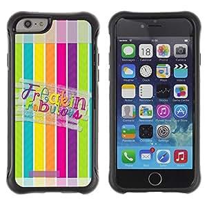 Suave TPU GEL Carcasa Funda Silicona Blando Estuche Caso de protección (para) Apple Iphone 6 / CECELL Phone case / / Fabulous Lines Pattern Pastel /