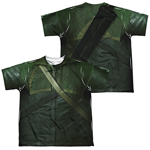 [Simply Superheroes Mens arrow tv show sublimated youth costume t shirt XL] (Tv Show Costumes For Men)
