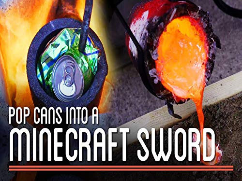 Metal Casting One Hundred One Pop Cans Into Minecraft Sword