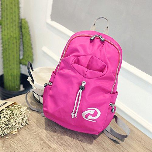 Mountaineering Bag Outdoor Wasserdichtes Nylon Backpack student Wasserflasche Tasche Urlaub Reisen und Freizeit Rucksäcke , deep blue