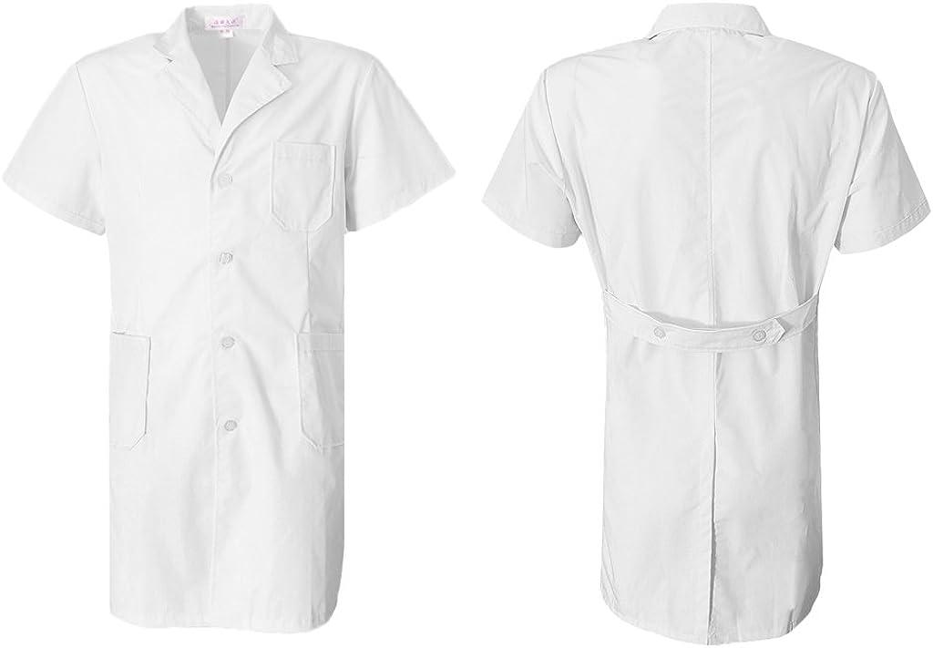 MagiDeal Cappotto Camici da Laboratorio Camicie Top T-shirt da Sanitari Infermiera per Donna Uomo