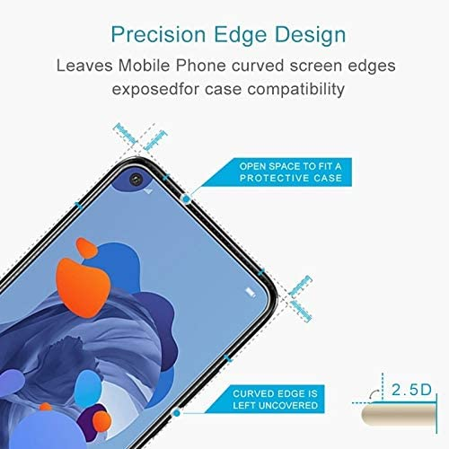 Easy to Install Super Clear and dura 50 PCS for Huawei nova 5i Pro 9H 2.5D Screen Tempered Glass Film yf