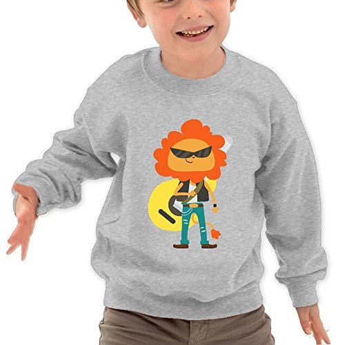 Lion Rock Kid Cotton Sweatshirt Newest Long-Sleeved Sweater - Soft Distortion Pedal