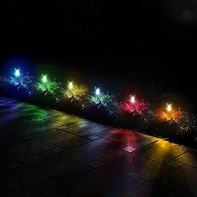 GIGALUMI Solar Pathway Lights Outdoor