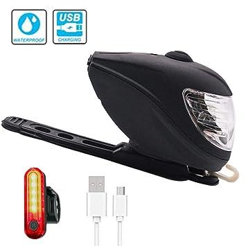 USB Recargable Luces De Bicicleta LED - Carga Solar-Faro De ...