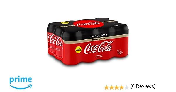 Coca-Cola Zero Zero Sin Cafeína y Sin Calorías - Lata 330 ml (Pack de 12): Amazon.es: Amazon Pantry