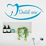 Wall Decals Quote Dental Care Tooth Clinic Home Vinyl Stickers Home Art Murals Design Interior Kids Nursery Baby Room Decor