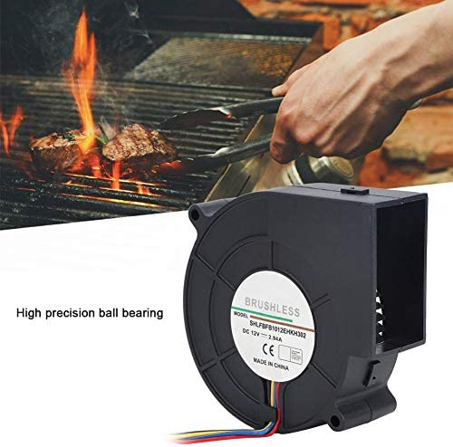 MAGT Turbine Blower, 12V 2.94A DC Turbine Air Blower Fan for Picnic Camping Heating Equipment Barbecue