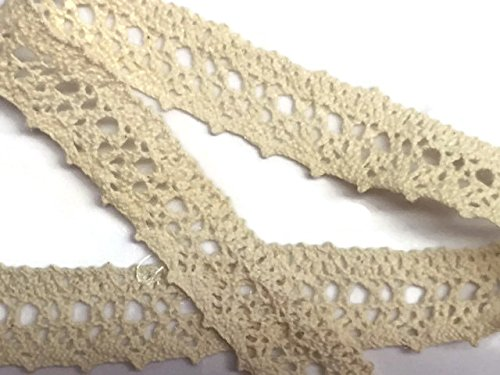 - Cluny Trim Lace Natural Cotton 1.25