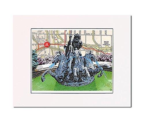 Amazon.com: Kansas City, Neptune Fountain, art print. Enhance your ...