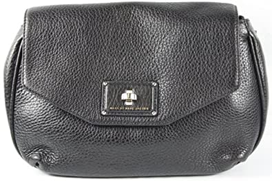 d1d72abbb9be Image Unavailable. Image not available for. Color  MARC BY MARC JACOBS  Black Les Zeppelin Flap Crossbody Bag