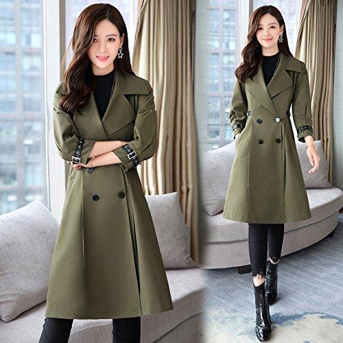 SCOATWWH Of Green Army Coats Load Women'S Jacket Mrs In Jackets Wind Coats Sense Female Long amp; green Army rzExP1ran