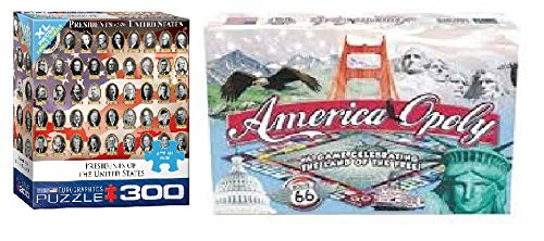 - America-opoly and US Presidents Puzzle Game Bundle