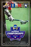 Yale Duke Maryland Albany 2018 NCAA LAX Lacrosse Championship Teams Poster Print