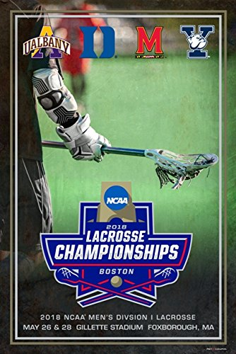Yale Duke Maryland Albany 2018 NCAA LAX Lacrosse Championship Teams Poster Print by Pro Graphs