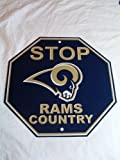 Fremont Die Consumer Products F90562 Styrene Stop Sign - St Louis Rams