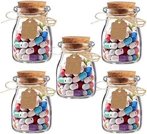 d/ía de la madre regalo de boda Amajoy mensaje de amor carta de medio color p/íldora para el d/ía de San Valent/ín 5 botellas de cristal con 250 letras c/ápsulas regalo de cumplea/ños