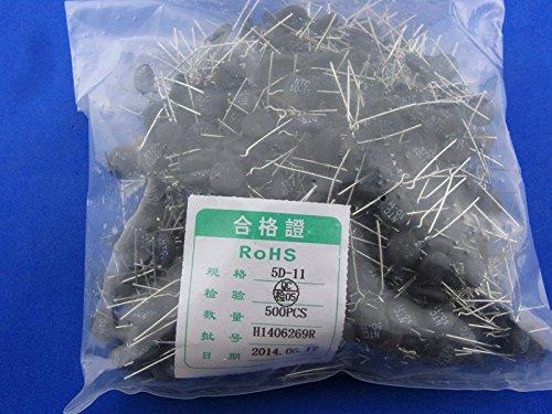 500pcs Thermistor Resistor NTC 5D-11(5Ω Diameter 11mm) thermistor