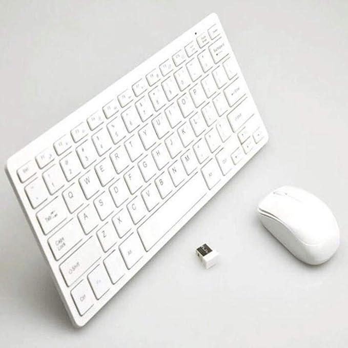 Teclado y Mouse Ratón Inalámbrico 2.4G Y Teclado Conjunto Ultra-Delgado Teclado Inalámbrico Y Ratón Soporte Smart TV K03 (Color : White): Amazon.es: Electrónica