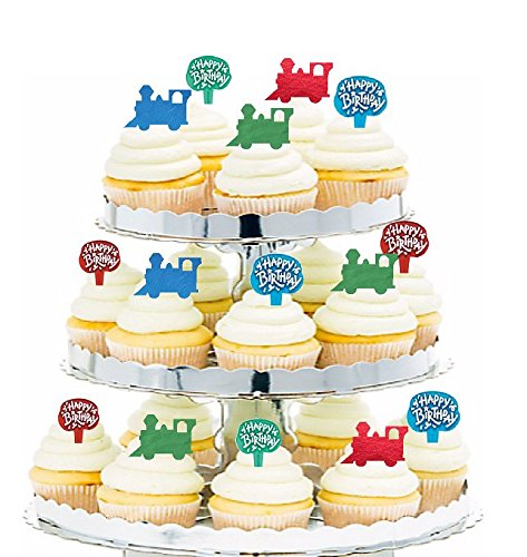 24 Thomas The Tank STAND UP Cupcake Cake Toppers Edible decorations fairy