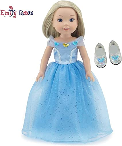 Clear Sparkly Shoes Red Off the Shoulder Dress Purse Fresh Dolls Fashion Pack