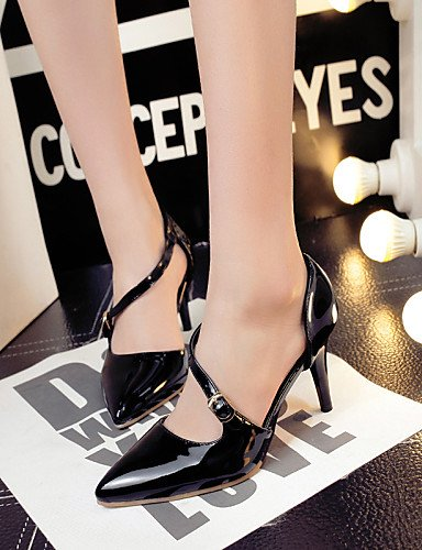 GGX/Damen Schuhe Patent Leder Sommer/spitz Toe Heels Büro & Karriere/Casual Stiletto Heel Schnalle Schwarz/Rot/mandel almond-us10.5 / eu42 / uk8.5 / cn43