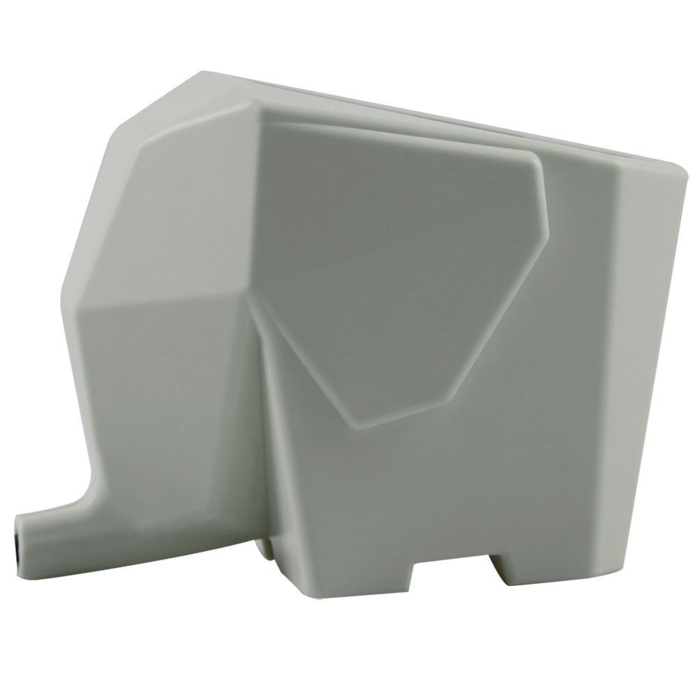 Agile-Shop Cute Elephant Design Plastic Cutlery Drainer Storage Holder Box for Home Kitchen, Bathroom, Toothbrush, Small Knife Accessories (Gray) by Agile-shop (Image #1)