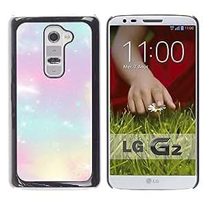 Estrellas del brillo Nubes púrpuras Nebulosa Cosmos - Metal de aluminio y de plástico duro Caja del teléfono - Negro - LG G2
