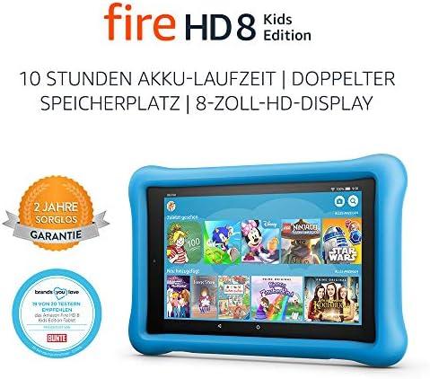Fire HD 8 Kids Edition-Tablet, 8-Zoll-HD-Display, 32 GB, blaue kindgerechte Hülle (vorherige Generation – 8.)