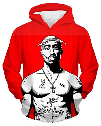 Chiclook Cool Men Women Tupac 2pac Hoodie Sweatshirt Fashion Hip Hop Streetwear Hooded Jacket by Chiclook Cool
