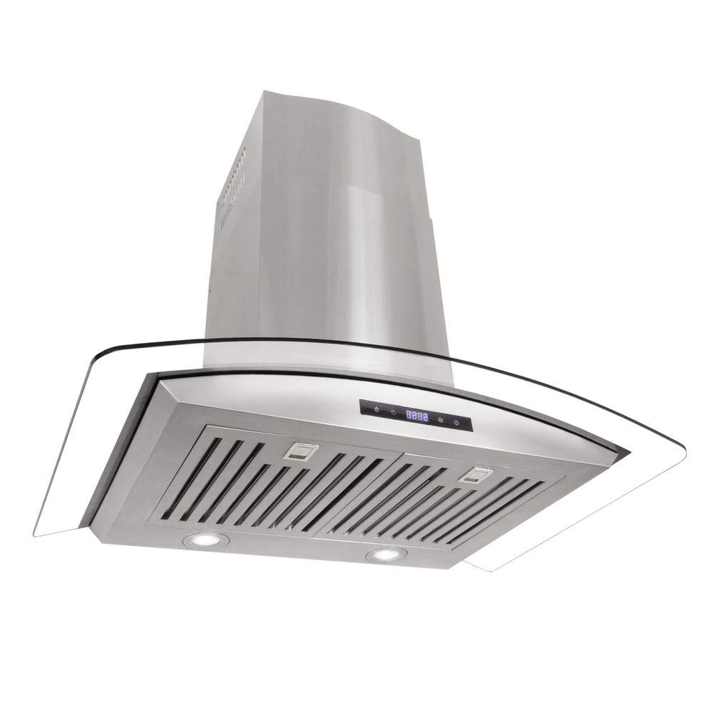 Cosmo 668AS750 30 in. Wall Mount Range Hood with Tempered Glass Visor, Soft Touch Controls, LED Lighting and Permanent Filters COS-668AS750