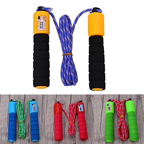 wohuu 4 Colors Strong Flexibility Adjustable Skipping Speed Rope with Sponge Handle For Students by wohuu