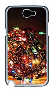 Samsung Note 2 Case Bundle of Christmas Lights PC Custom Samsung Note 2 Case Cover White