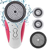 2NICE Face Brush Portable Rechargeable and Cordless Sonic Exfoliator Facial Cleansing Brush for Face and Body Skin with 3 Speeds Mode