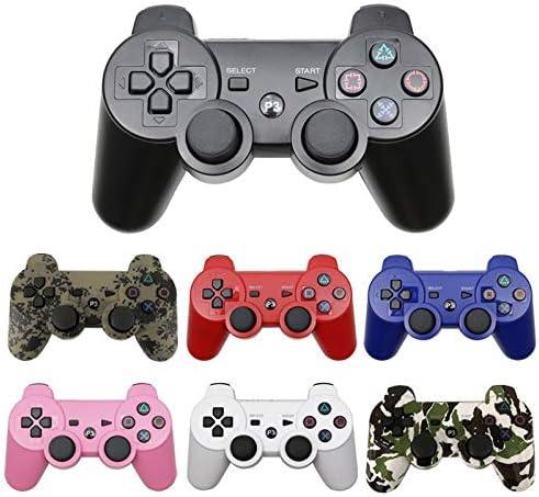 ZBBH PCについてはSONY PS3コントローラのデュアルショック3 Controleのためのプレーステーション3ジョイスティックコンソール用のBluetoothワイヤレスゲームパッド (色 : 紫の)