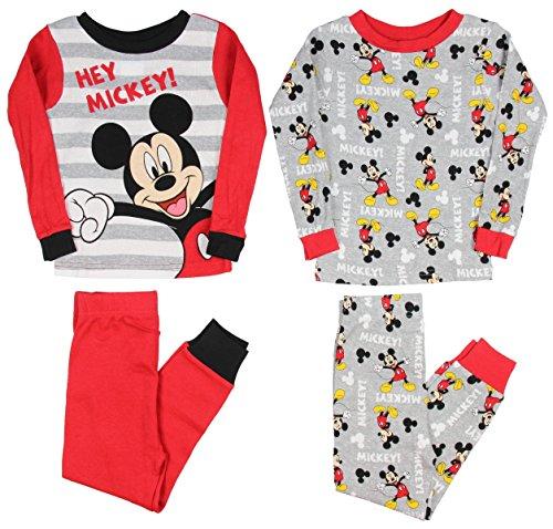 Mickey Mouse Boys 4 piece Pajamas Set (Toddler)