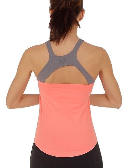 Prancing Leopard Mujer Yoga, Workout Top plathe Camiseta sin ...