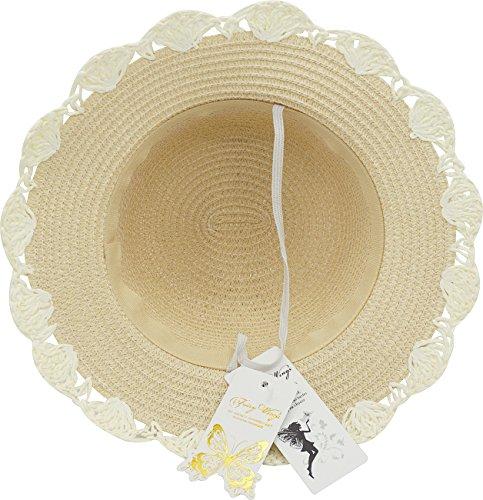 Little Children Babies Lace Bowknot Princess Sun Bonnet Straw Hat by Fairy Wings (Image #4)