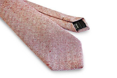 52c3a2772106 Image Unavailable. Image not available for. Colour: Frederick Thomas mens  maroon/dark red herringbone tweed/wool tie