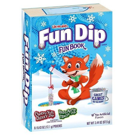 Fun Dip Christmas Fun Book 3.44oz