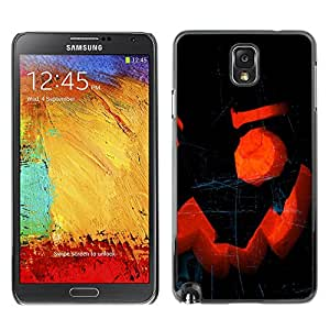 Samsung Note 3 N9000 - Metal de aluminio y de plástico duro Caja del teléfono - Negro - Halloween x
