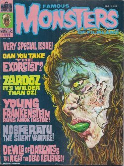 FAMOUS MONSTERS of Filmland: October, Oct. 1974, No. 111 (The Exocist; Zardoz; Young Frankenstein; Nosferatu)