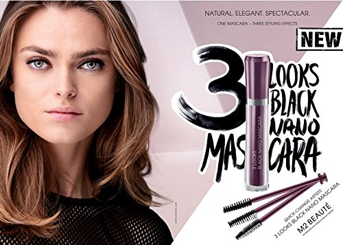 M2Beaute Mascara & Eyelash Activating Serum 5ml - 3 LOOKS BLACK NANO MASCARA with 5ml Eyelash growth Serum & M2Beaute Gift Box by M2Beaute (Image #5)