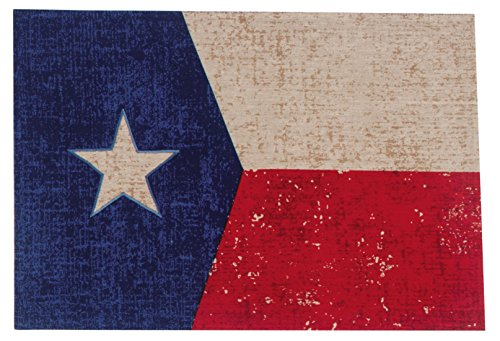 (Kay Dee Designs R1634S Vintage Texas Fabric Placemats, Set of 4 )