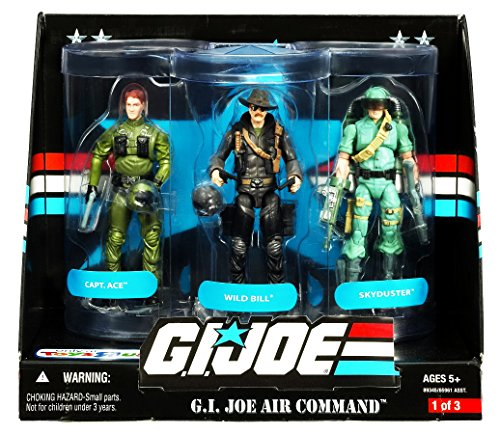 G.I. Joe 25th Anniversary: Air Command Exclusive Boxed Set of 3 Action Figures: Wild Bill, Captain Ace & Skyduster (Air Command Action Figure)