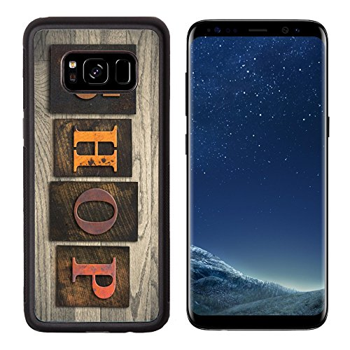 Luxlady Premium Samsung Galaxy S8 Aluminum Backplate Bumper Snap Case IMAGE ID: 35334575 The word SHOP written in wooden letterpress - Coupons Mall Outlet Premium