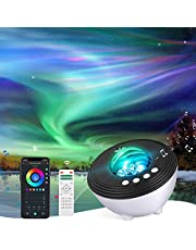 YunLone Aurora Projector Star Projector Galaxy Projector Lights for Bedroom Smart WIFI Night Light Lamp with Music speaker, Sound machine, App Control, Remote Control, Room Decor for Kids and Adult, Compatible with Alexa, 30 color modes