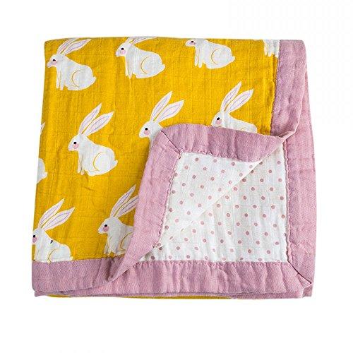 Quest Sweet Baby muslin Swaddle Blankets, Nursing Cover, Burp Cloth, muslin Baby Blanket, Winter Receiving Blanket ()