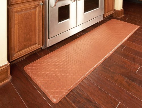 "GelPro Classic Anti-Fatigue Kitchen Comfort Chef Floor Mat, 20x72"", Basketweave Black Stain Resistant Surface with ½"" gel core for health & wellness by GelPro (Image #4)'"